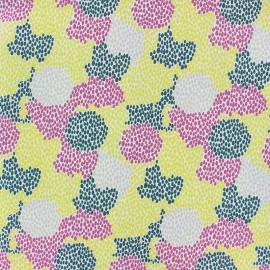 Tissu coton graphique Pocantino - jaune x 10cm