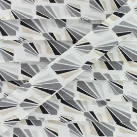 Biais Coton Payani 20 mm - Gris x 1m