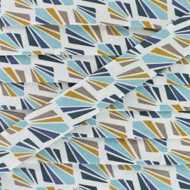 Biais Coton Payani 20 mm - Aqua x 1m