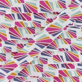 Biais Coton Payani 20 mm - Fuchsia x 1m