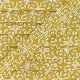 20 mm Cotton Bias Binding - Mustard Wata x 1m