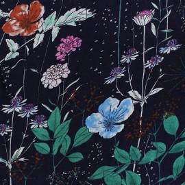 Tissu coton viscose froissé Tillia - Bleu x 10cm
