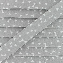 20 mm Cotton Bias Binding - Grey Yozid x 1m