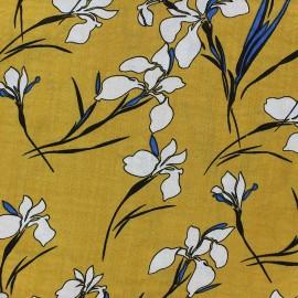 Cotton viscose Fabric - Yellow Jeannette x 10cm