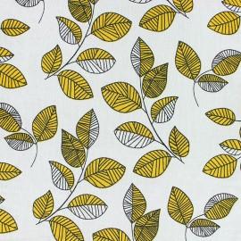 Tissu coton viscose froissé Jeannette - jaune x 10cm