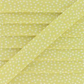 Biais Coton Tassi 20 mm - Jaune x 1m
