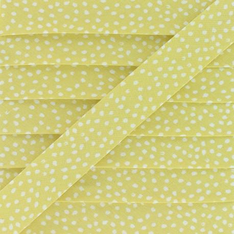 20 mm Cotton Bias Binding - Yellow Tassi x 1m