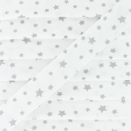 Biais Coton Dousnui 20 mm - Argent x 1m