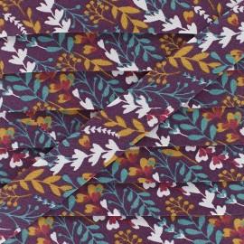 Biais Coton Feia 20 mm - Prune x 1m