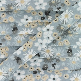 Biais Coton Zinia 20 mm - Gris x 1m