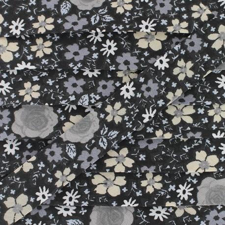 20 mm Cotton Bias Binding - Black Anisley x 1m