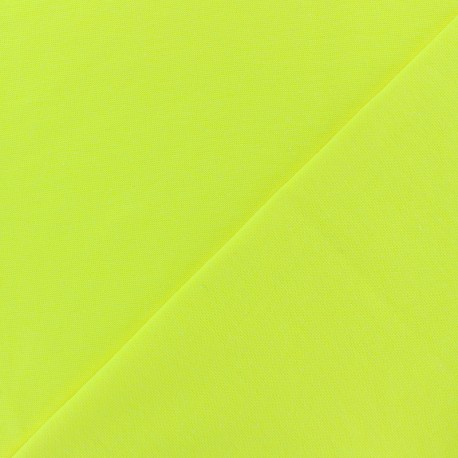 Tubular Jersey fabric - neon yellow x 10cm