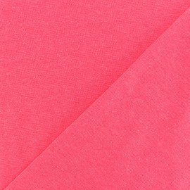 Tissu Jersey tubulaire - rose fluo x 10cm