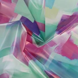 Tissu spécial ciré transparent réversible - Block x 10cm