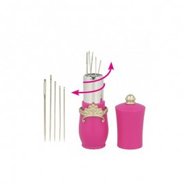 Lipstick Needle Case Holder - Fuchsia