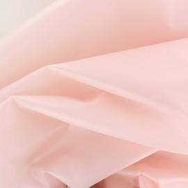 Tissu spécial ciré transparent Rainy - rose litchi x 10cm