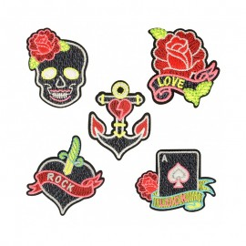 Neon Rock Iron-On Patch Collection (5 Pack)