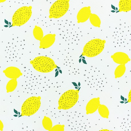 Scented Jersey fabric -White lemon flavour x 10cm