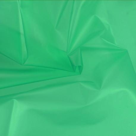 Tissu spécial ciré transparent Rainy - vert x 10cm