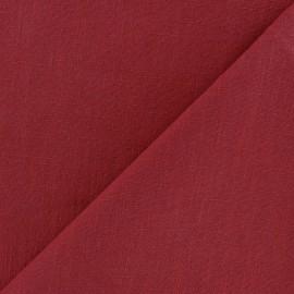 Tissu lin lavé (laize: 135cm) - rouge Tango x 10cm