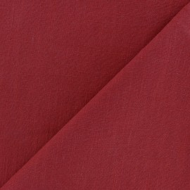 Washed Linen (135cm) Fabric - tango red x 10cm