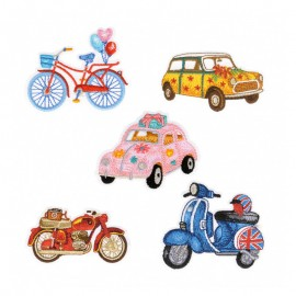 Thermocollant Collection Lovely Motor (Pack de 5)