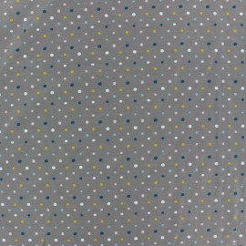 Cotton jersey fabric - grey dot x 10cm