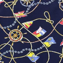 Tissu Viscose En Haute-mer - bleu marine x 35cm