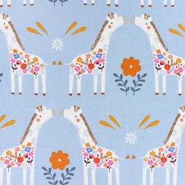 Cotton Dashwood fabric - Giraffe Meadow Safari x 10cm