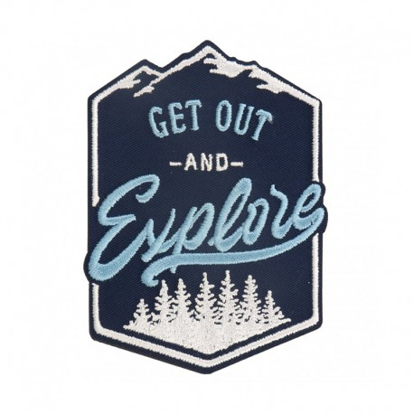 Get Out and Explore Iron-On Patch - Blue