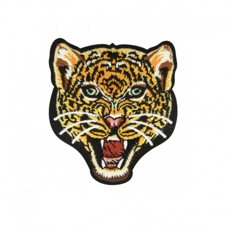 Leopard iron on patch