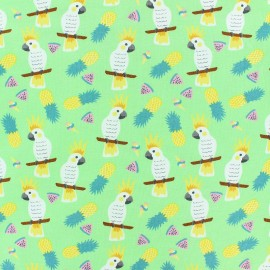 Cotton Jersey fabric - green Alohananas x 10cm