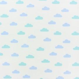 Tissu sweat léger Tendre Nuage - blanc x 10cm
