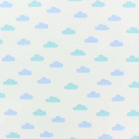 French Terry Fabric - white Tendre Nuage x 10cm