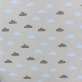 Tissu sweat léger Tendre Nuage - gris x 10cm