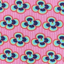 Fiona Hewitt poplin fabric - Pink fabulous flowers x 10cm