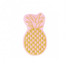 Hawaiian in Pink Iron-On Patch - Pineapple