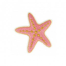 Hawaiian in Pink Iron-On Patch - Starfish