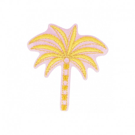 Hawaiian in Pink Iron-On Patch - Palm Tree