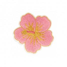 Thermocollant Hawaï en Rose - Hibiscus