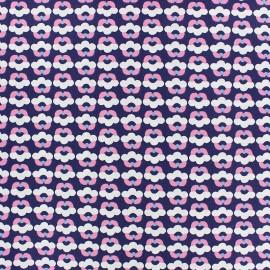 Tissu popeline Fiona Hewitt - Tiny Flowers - marine x 10cm