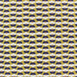 Tissu popeline Fiona Hewitt - Tiny Flowers - bleu marine x 10cm
