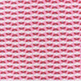 Tissu popeline Fiona Hewitt - Tiny Flowers - rose x 10cm