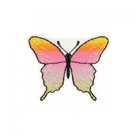 Iridescent Butterfly Iron-On Patch - A