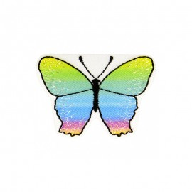 Iridescent Butterfly Iron-On Patch - C