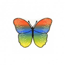 Iridescent Butterfly Iron-On Patch - D