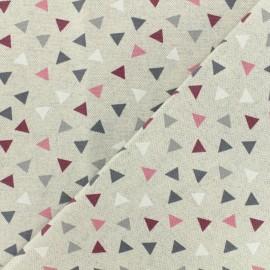 Tissu polycoton Pyramides - bordeaux x 10cm