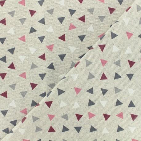 Polycotton fabric- burgundy Pyramid x 10cm