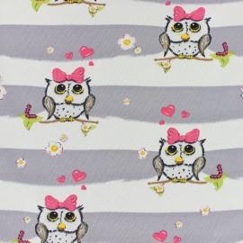Tissu jersey Poppy Sweet Valentine - écru x 10cm
