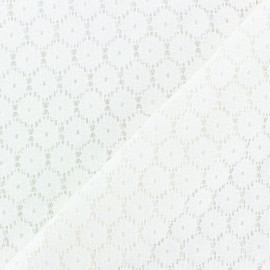 Scalloped Lace Fabric - white Mélanie x 10cm